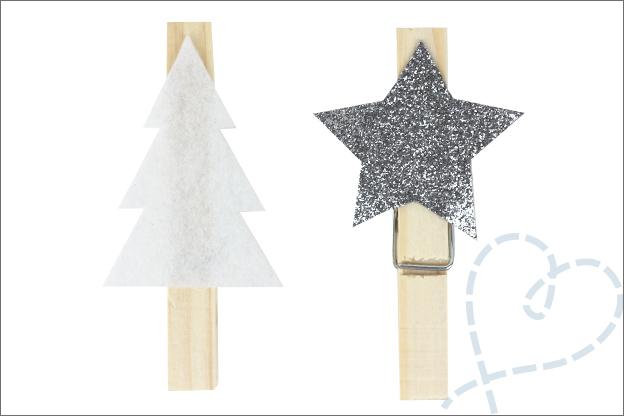 Kerstslinger kerstkaarten DIY wasknijpers