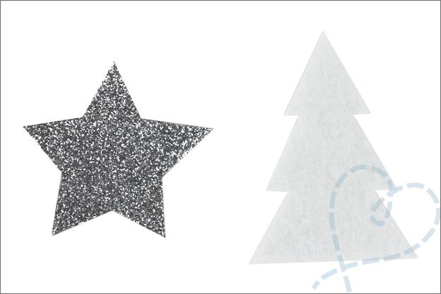 Kerstslinger voor kerstkaarten DIY kerstboom ster
