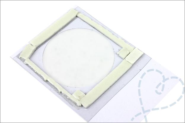 Uitleg schudkaarten maken venster foam tape