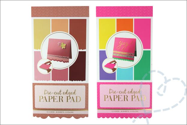 Vouwkaarten maken Action papier sierrand paper pad