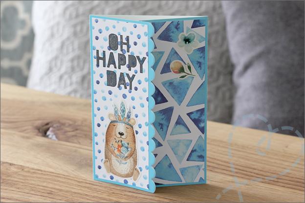 Vouwkaarten maken craft sensations Action papier