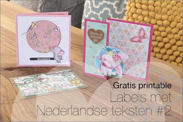 Gratis printable Nederlandse labels kaarten maken