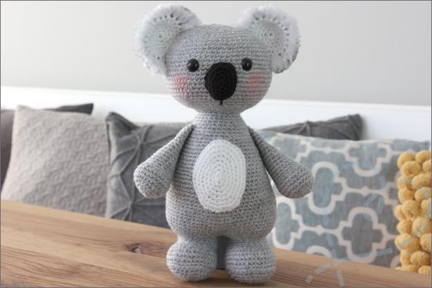 Haken koala eindresultaat gratis haakpatroon