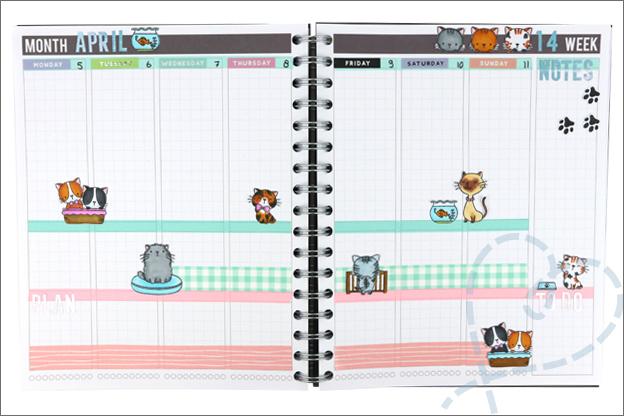 Agenda planner knutselen uitleg stempels hond kat