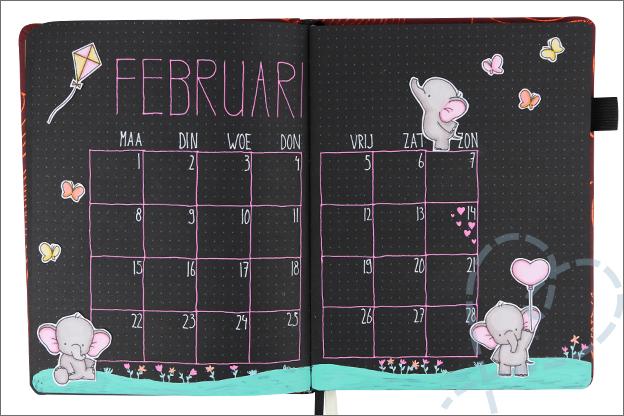 Black journal maand februari valentijn