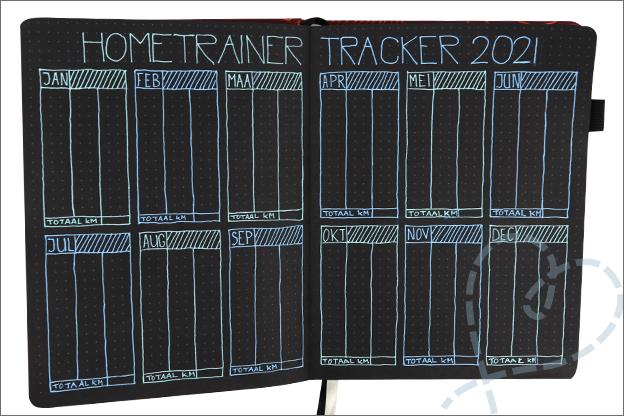 Bullet journal sport tracker sportschool hometrainer