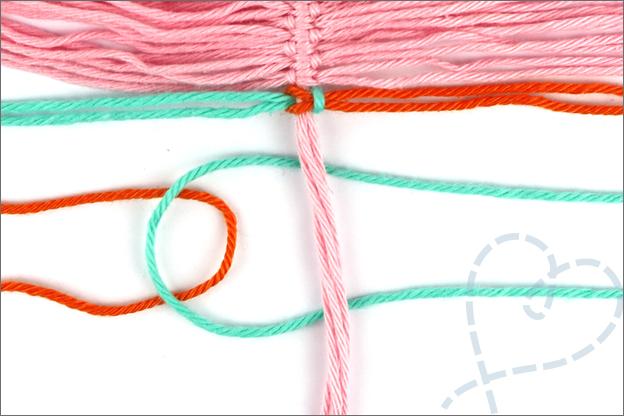 DIY macrame knoop veer uitleg