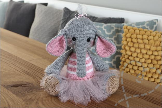 Haken olifant Nina haakpatroon eindresultaat