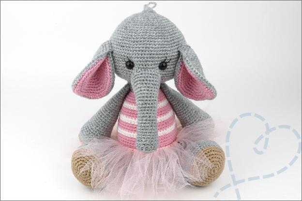 Haken olifant jurk rok patroon