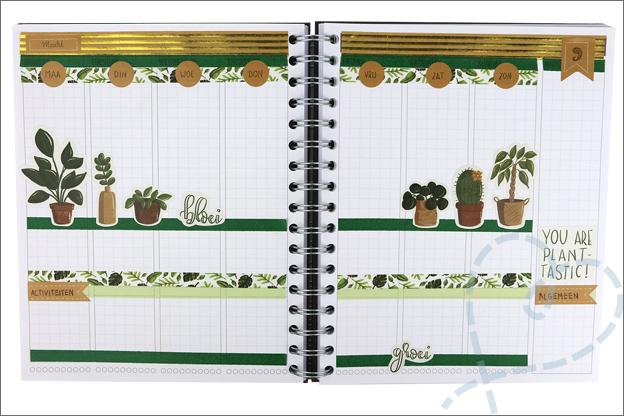 Mascha planner versieren inspiratie stickers planten