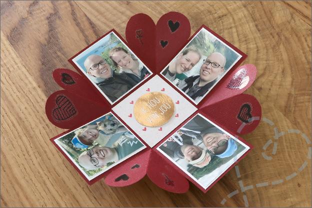 Explosie doosje foto valentijn DIY