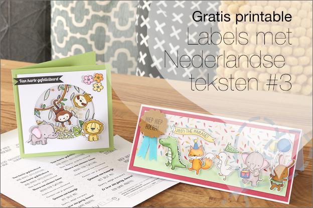 Gratis printable nederlandse tekst labels kaarten maken