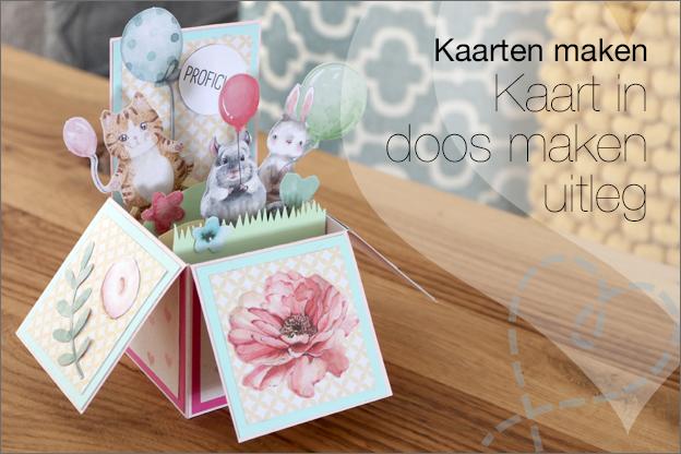 Kaart in doos maken uitleg gratis printable
