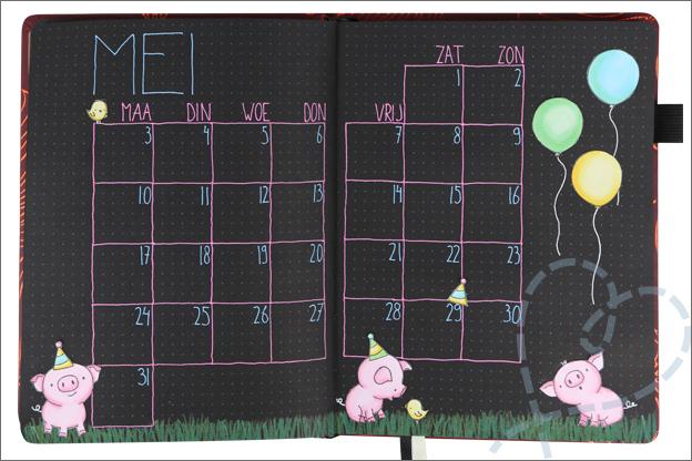 black journal maand mei thema verjaardag