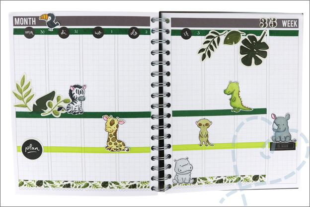 Agenda planner versieren eigen maken stempels twinmarkers