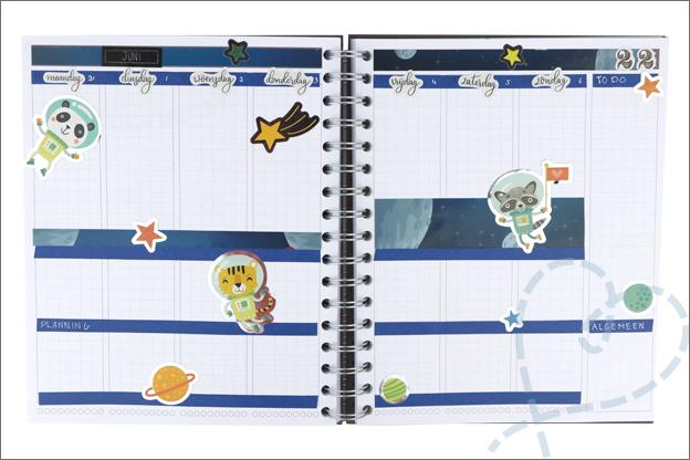 Agenda versieren ruimte stickers Action