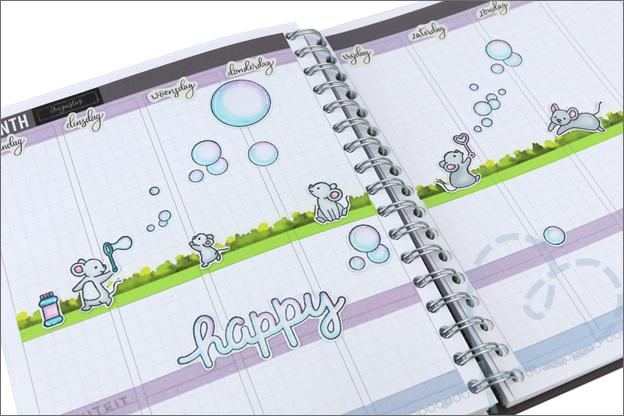 Agenda versieren stempels lawn fawn twinmarkers