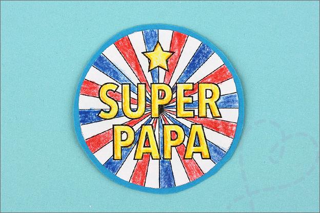 DIY vaderdag rozet super papa