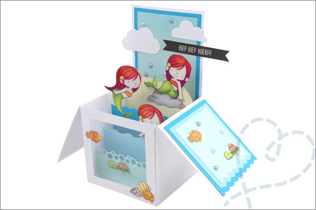 Kaart maken in doos uitleg inspiratie stempels