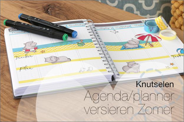 uitleg agenda versieren persoonlijk maken zomer