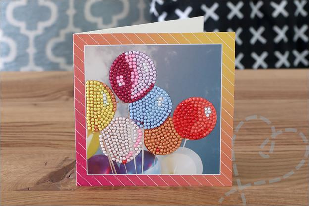 Action Diamond painting kaart ballonnen