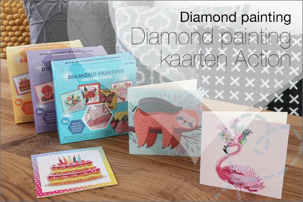 Action diamond painting kaarten greeting cards