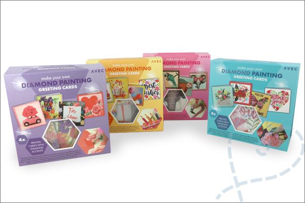 Diamond painting kaarten action verpakking