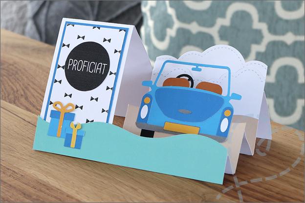 Trapjeskaart action snijmal auto inspiratie