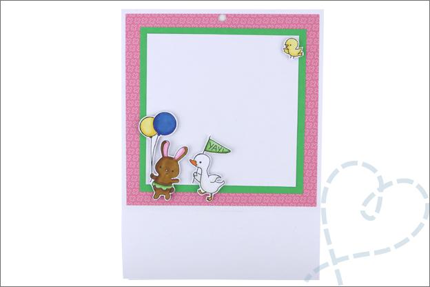 kaart met cadeautje maken achterkant