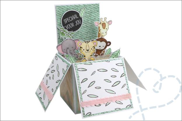 Card in a box Tutorial DIY knutselen