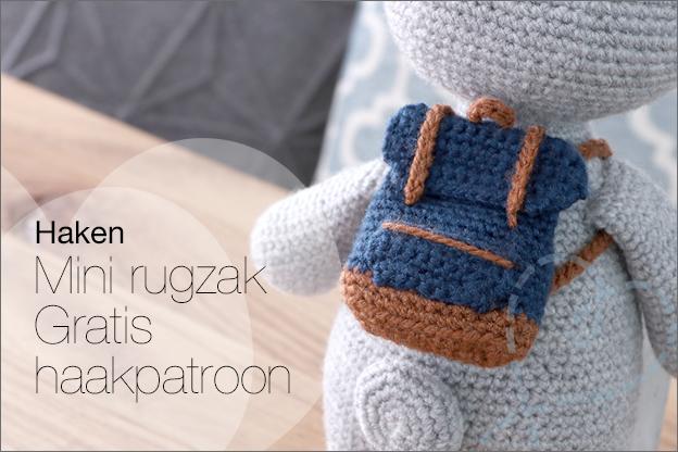 Haakpatroon gratis mini rugzak nederlands