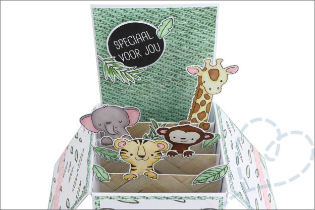 Kaart maken in doos voorbeeld uitleg inspiratie
