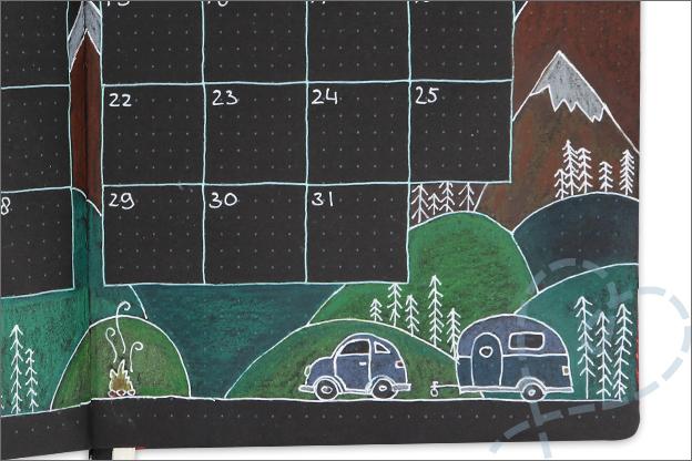 black journal inspiratie julie kleuren kleurpotloden tekenen