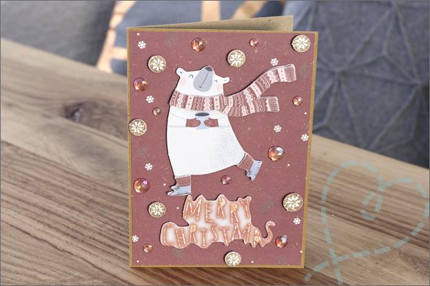 Action DecoTime stansblokken kerst 3 ijsbeer