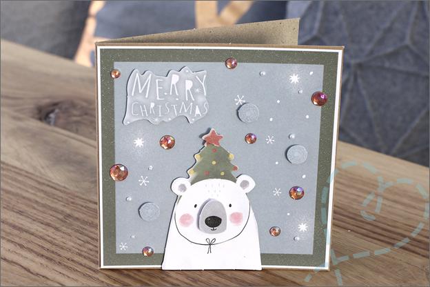 Action DecoTime stansblokken kerst 3 kaarten maken