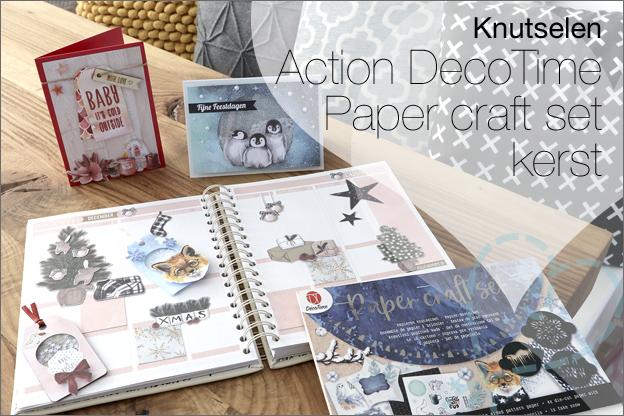 Knutselen Action DecoTime Paper craft set kerst
