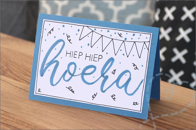 kaart handletteren uitleg action penseelstiften fineliners