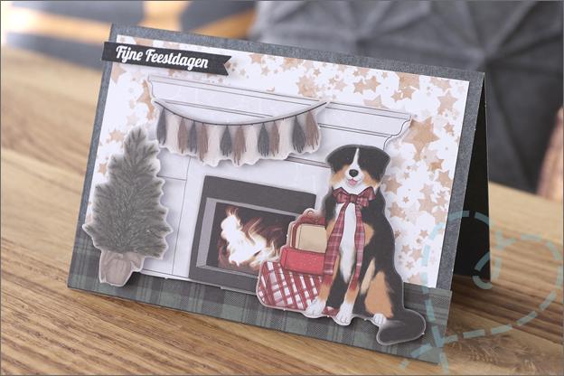 DecoTime papierblok kerst honden kaart