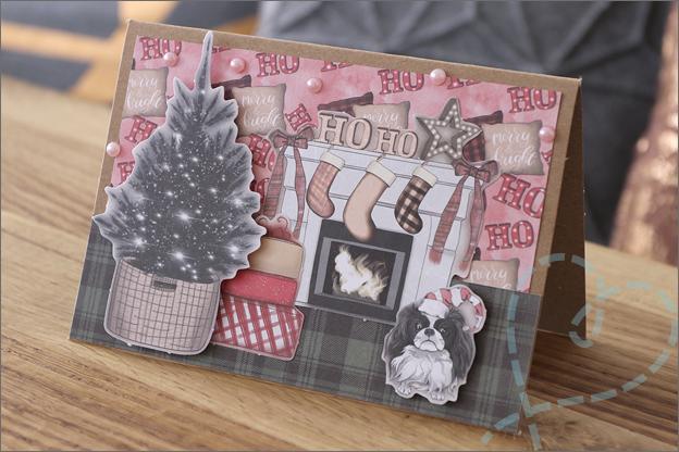 DecoTime papierblok kerstkaarten maken inspiratie