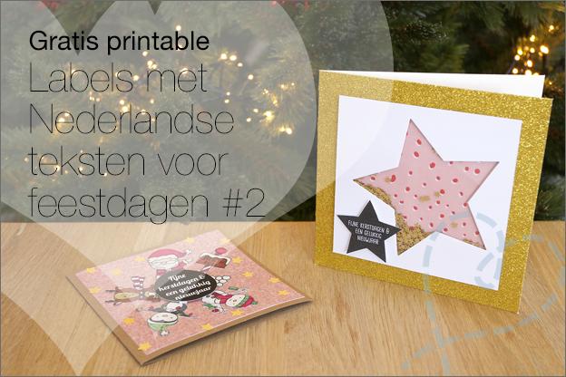 Gratis printable Labels nederlands kerst feestdagen