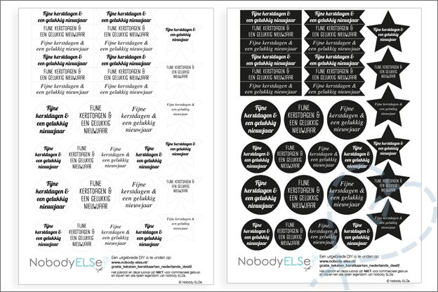 Gratis printable kerstlabels voor kerstkaarten
