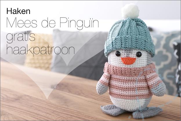 Haken gratis haakpatroon pinguïn mees
