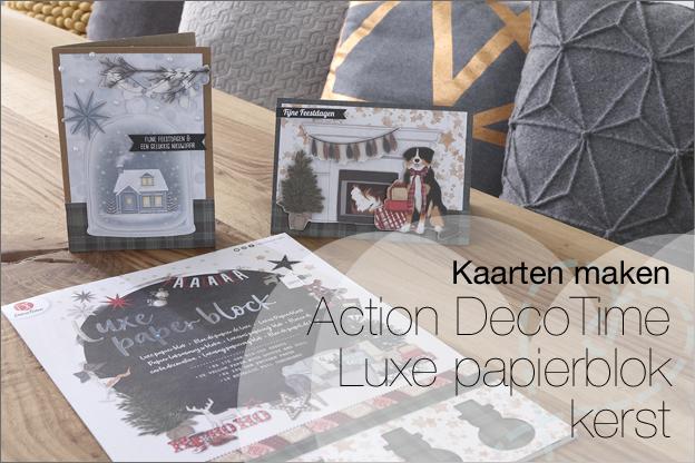 Kaarten Action DecoTime luxe papierblok kerst