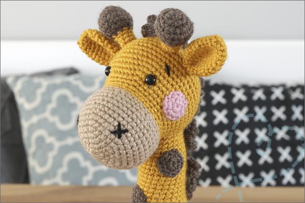 Haken giraf haakpatroon hoofd