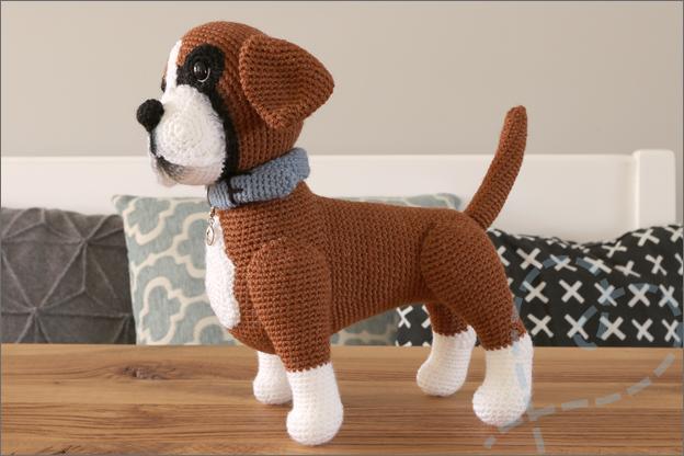 gehaakte hond boxer bruno haakpatroon