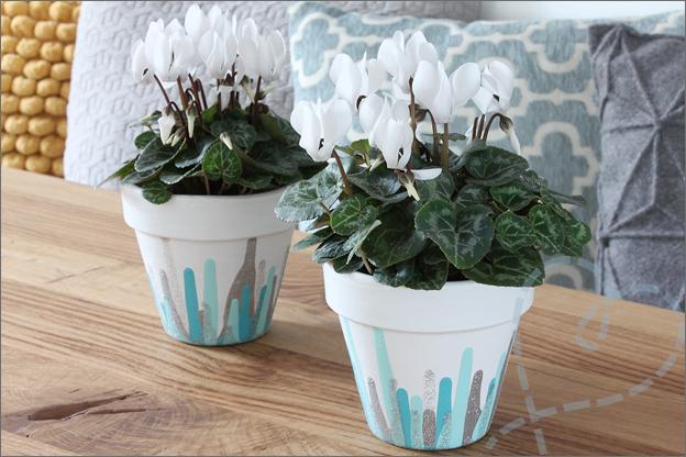 DIY maak je eigen bloempotjes eindresultaat