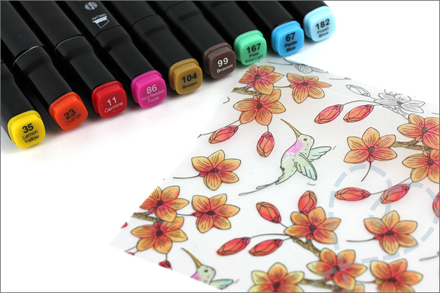 Hoe Vellum papier kleuren twinmarkers