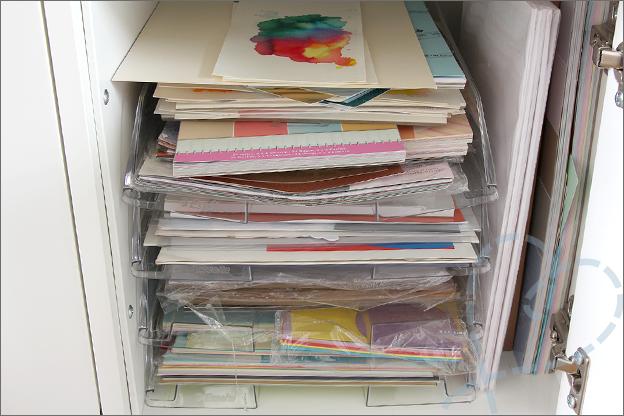 Knutselspullen opbergen ideeen papier