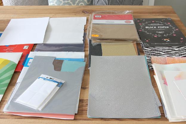 Knutselspullen opbergen inspiratie papier sorteren