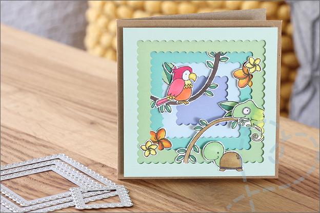 3d kaarten maken snijmallen action clear stamps
